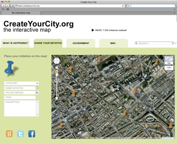 Interactive platform 'Create Your City'